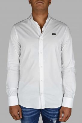 Philipp Plein Diamond Cut LS Iconic white shirt.