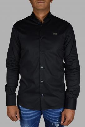 Philipp Plein Diamond Cut LS Iconic black shirt.