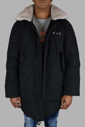 Black Off-White coat.