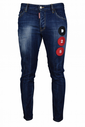 Skater jeans Dsquared2 dark blue faded.
