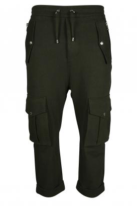 Balmain khaki jogging pants.