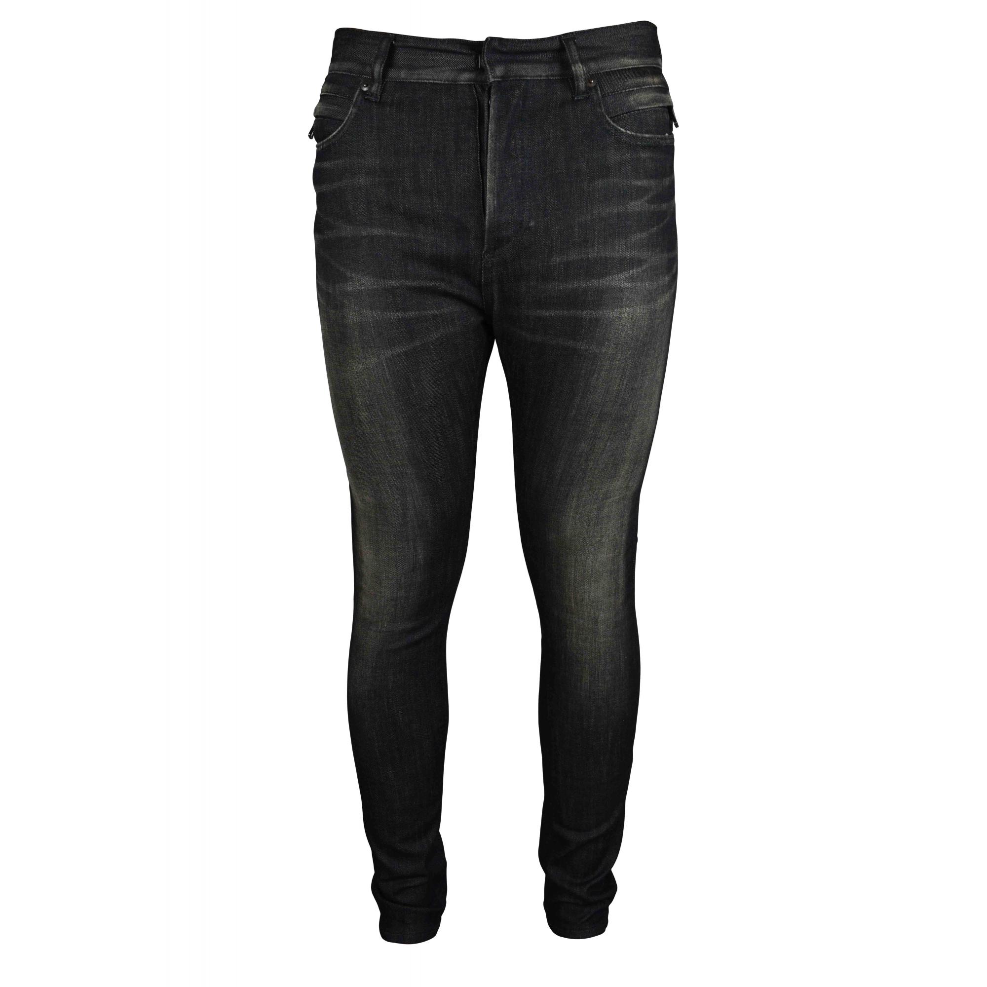 Black Balmain jeans.