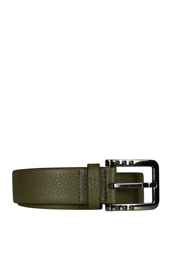 Valentino Garavani belt in khaki leather.