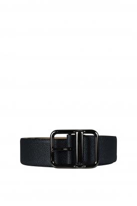 Valentino Garavani belt in dark gray leather.