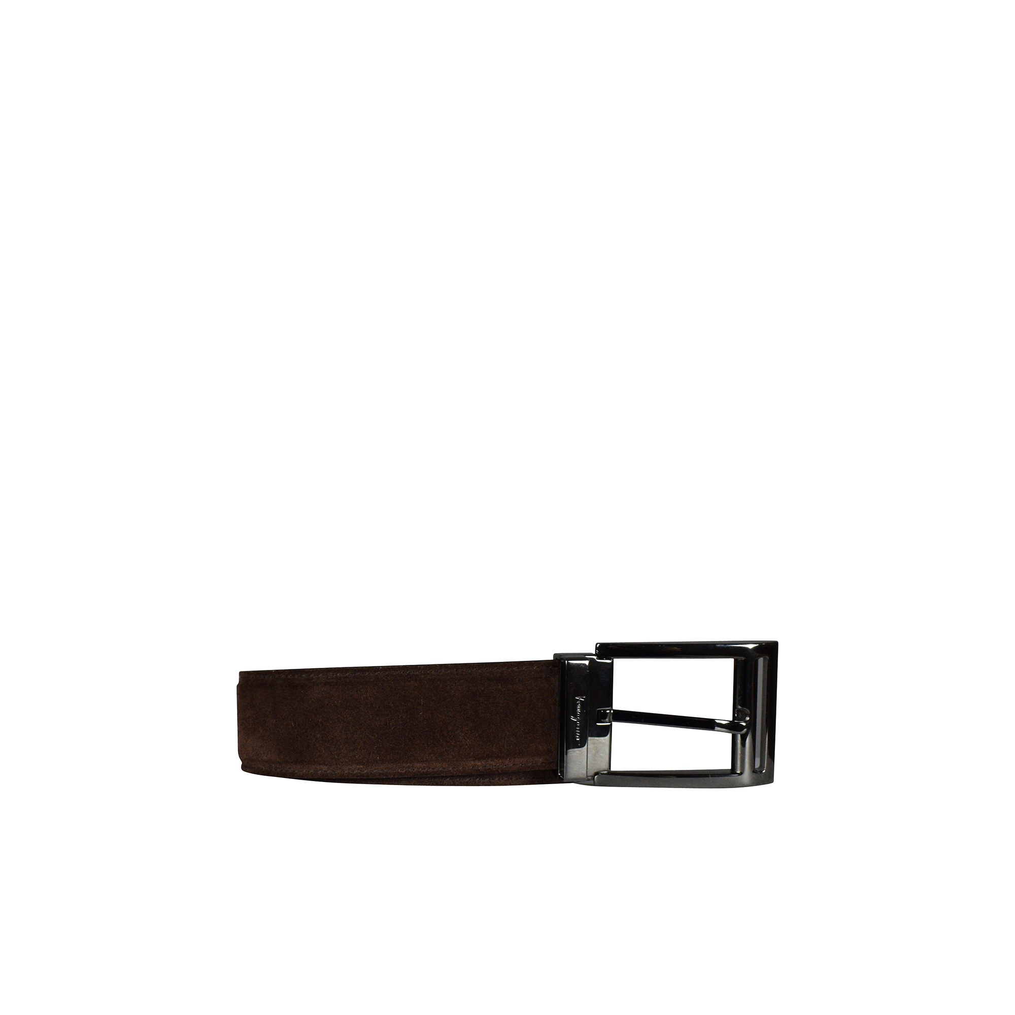 Salvatore Ferragamo belt in brown suede.