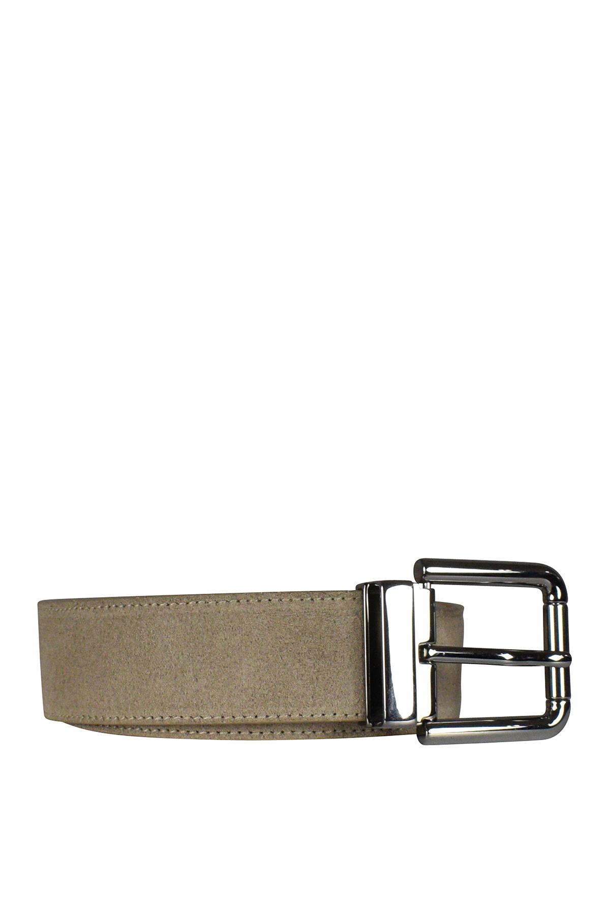 Dolce & Gabbana belt in beige suede.