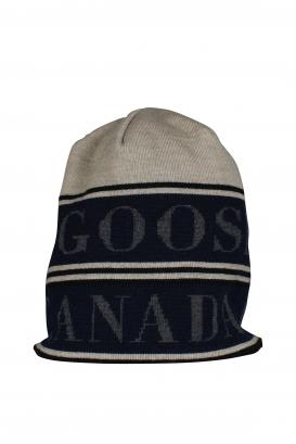 Beige Canada Goose beanie.