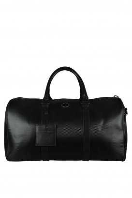 Philipp Plein travel bag in black leather.