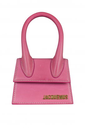 Jacquemus Le Chiquito mini bag in pink leather.