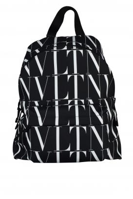 Valentino Garavani black nylon backpack.