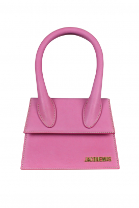 Jacquemus Le Chiquito moyen bag in pink leather.