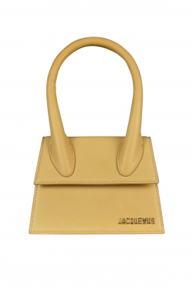 Jacquemus Le Chiquito moyen bag in beige leather.