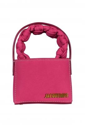 Jacquemus bag Le Petit Sac Noeud pink leather.