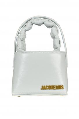 Jacquemus bag Le Petit Sac Noeud white leather.