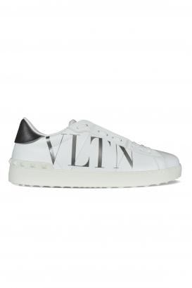 Valentino Garavani Open sneakers in white leather with silver VLTN logo.