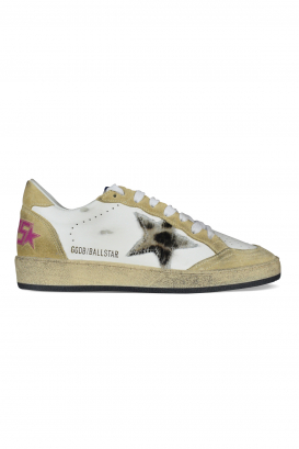 Golden Goose Deluxe Brand Ballstar sneakers in white leather and beige suede.