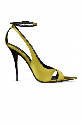 Topsi Saint Laurent sandals in yellow satin.
