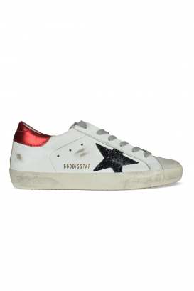 Golden Goose Deluxe Brand Superstar sneakers in white leather.