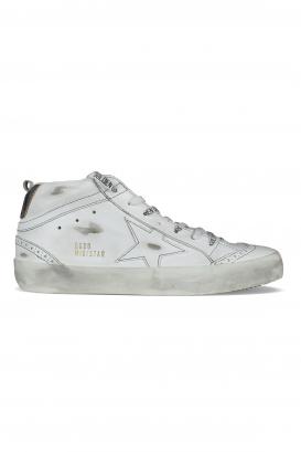 White Midstar Golden Goose sneakers.
